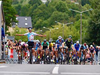 bdr brv bunddeutscherradfahrer canon cycling finish frankfurtoder frc90 luxemburg maillotjaune oderrundfahrt oderrundfahrt2019 orf roadrace roadracing sprint stagerace success uci uciroad victory winner