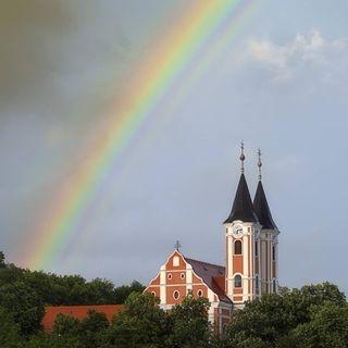 colours overtherainbow rain rainbow storm summer summertime wonderland
