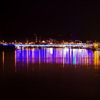 warszawa neonlights river nightphotography hightimes magic bridge warsaw