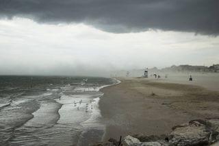 sand storm beach rimini afterstorm wind sea seashore clouds skyclouds windstorm italy beautiful assaultphotography carpediem waves powerofnature amazingshots_italy repostphoto worldhubphoto