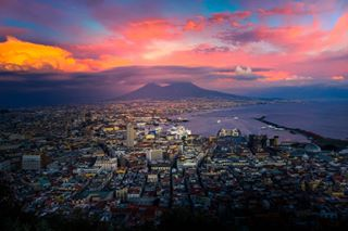 amazingcity italy napoli sea sky skyporn sunset travel travelgram travelphotography trip