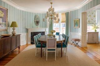 interiordesign diningroom fireplace wallpaper interiorstyling interiorsphotography