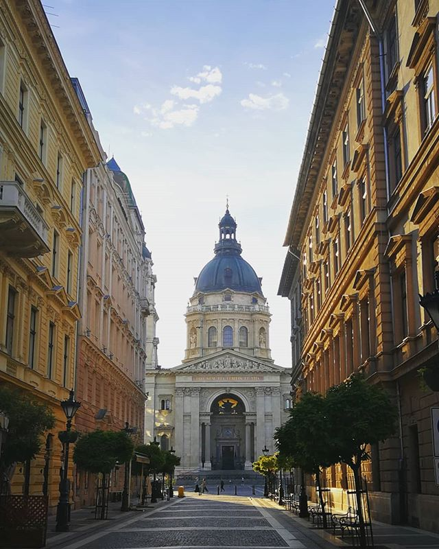 ancient architecture autohash budapest building cathedral church city facade hungary instago instatravel landmark old outdoors religion sky square street tourism tower town travel traveling urban visiting