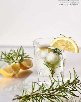 alcohol alcoholdrinks alcoholics beverage beveragephotography beverages drink gin gincocktails ginlover ginstagram gintime lemon ontherocks rosemary spirits
