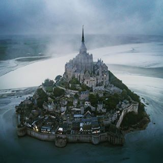 aerialphotography aerialvideo castle church dji djiglobal djiphantom4pro drone dronephotography fog france french gameofthrones germandrones montsaintmichel normandy rain saintmichel travel