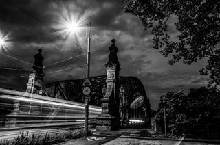 architecturephotography blackandwhite bridges mostzwierzyniecki nightphotography polishbridges wroclaw