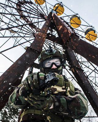 army carnival chernobyl photo shooting stalker triping winter zona