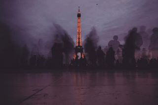 awesome france in inspiration longexposure moments movement paris people sunset toureiffel